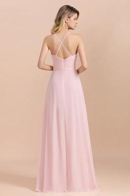 Günstige Brautjungfernkleider Lang Rosa | Schlichtes Abendkleid_3