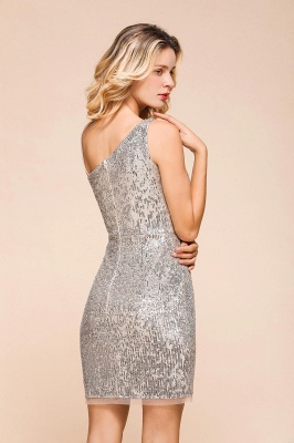 Silver Cocktail Dresses Short | Prom dresses with glitter_9