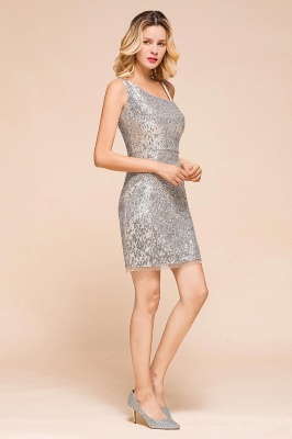 Silver Cocktail Dresses Short | Prom dresses with glitter_7