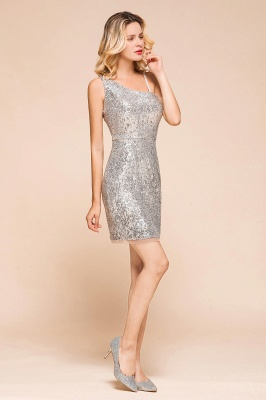 Silver Cocktail Dresses Short | Prom dresses with glitter_8