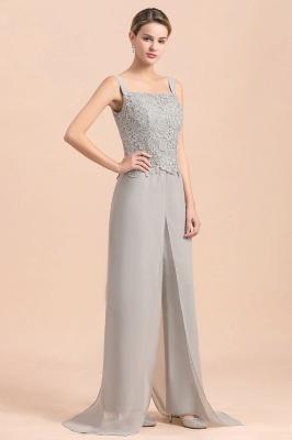 Silber Brautmutterkleider Jumpsuit | Chiffon Brautmutterkleid 3 Teillig_9