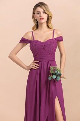 Purpur Brautjungfernkleider Lang Chiffon | Kleider Für Brautjungfern_9