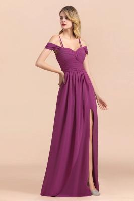 Purpur Brautjungfernkleider Lang Chiffon | Kleider Für Brautjungfern_6