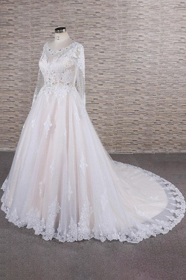 Luxury wedding dresses with lace | Wedding dresses with sleeves_4