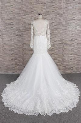 Elegant mermaid wedding dresses | Wedding dress with sleeves_3