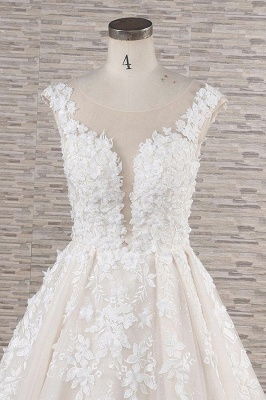 Fashion wedding dress A line | Wedding fashions with lace_5