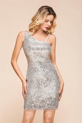 Silver Cocktail Dresses Short | Prom dresses with glitter_6