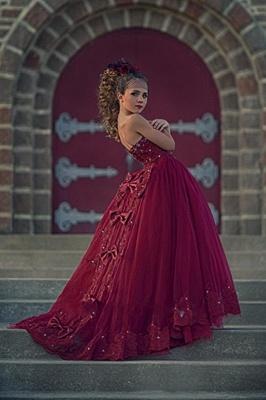 Flower girl dresses red | Flower girl dress tulle_2