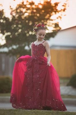 Blumenmädchen Kleider Rot | Blumenmädchen Kleid Tüll