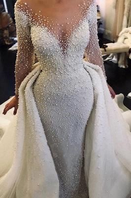 Luxus Brautkleider A linie | Hochzeitskleider mit Ärmel Online
