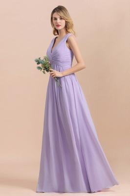 Lilac Brautjungfernkleider Lang Chiffon | Hochzeitspartykleider Günstig_7