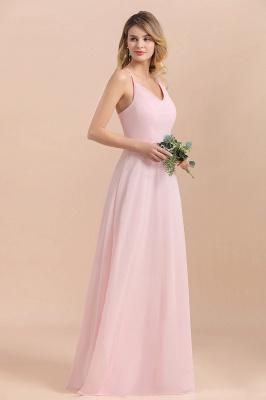 Günstige Brautjungfernkleider Lang Rosa | Schlichtes Abendkleid_5