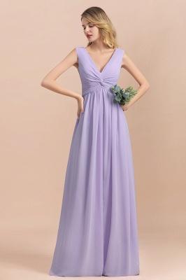 Lilac Brautjungfernkleider Lang Chiffon | Hochzeitspartykleider Günstig_6