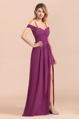 Purpur Brautjungfernkleider Lang Chiffon | Kleider Für Brautjungfern_5
