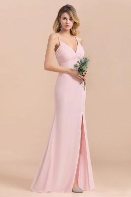 Rosa Brautjungfernkleider Lang Chiffon | Günstige Hochzeitspartykleider_5