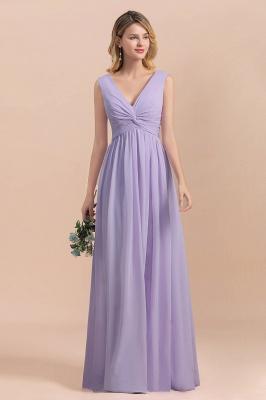 Lilac Brautjungfernkleider Lang Chiffon | Hochzeitspartykleider Günstig_9