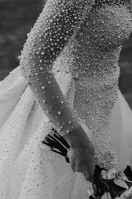 Luxus Brautkleider A linie | Hochzeitskleider mit Ärmel Online_5