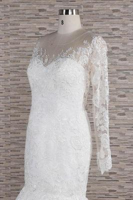 Elegant mermaid wedding dresses | Wedding dress with sleeves_6