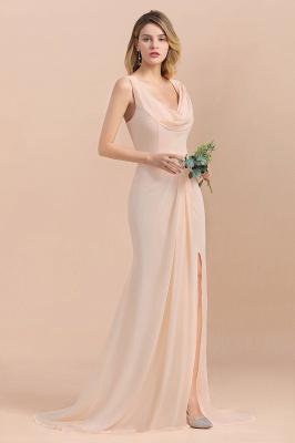 Champagne Brautjungfernkleider Lang | Chiffon Kleider Für Brautjungfern_5