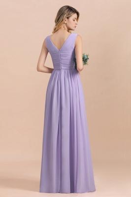 Lilac Brautjungfernkleider Lang Chiffon | Hochzeitspartykleider Günstig_3
