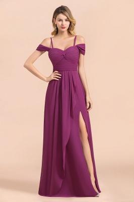 Purpur Brautjungfernkleider Lang Chiffon | Kleider Für Brautjungfern_8