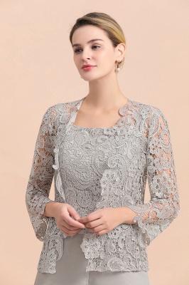 Silber Brautmutterkleider Jumpsuit | Chiffon Brautmutterkleid 3 Teillig_7