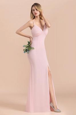 Rosa Brautjungfernkleider Lang Chiffon | Günstige Hochzeitspartykleider_8