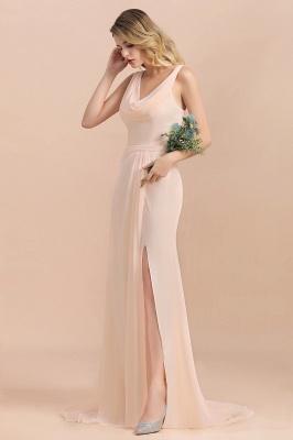 Champagne Brautjungfernkleider Lang | Chiffon Kleider Für Brautjungfern_6