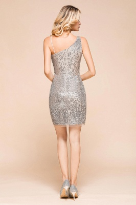 Silver Cocktail Dresses Short | Prom dresses with glitter_3