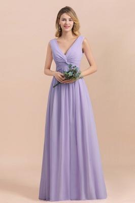 Lilac Brautjungfernkleider Lang Chiffon | Hochzeitspartykleider Günstig_1