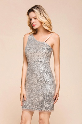 Silver Cocktail Dresses Short | Prom dresses with glitter_5