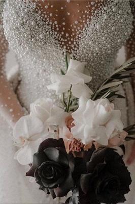 Luxus Brautkleider A linie | Hochzeitskleider mit Ärmel Online_4