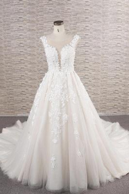 Fashion wedding dress A line | Wedding fashions with lace_1