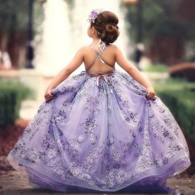 Blumenmädchenkleider für Kinder | Blumenmädchen Kleid Spitze_3
