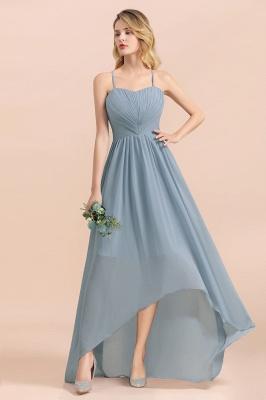 Brautjungfernkleider Lang Blau | Chiffon Kleider Hochzeitsgäste Kleider_9