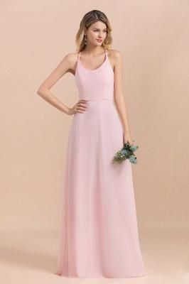 Günstige Brautjungfernkleider Lang Rosa | Schlichtes Abendkleid_9