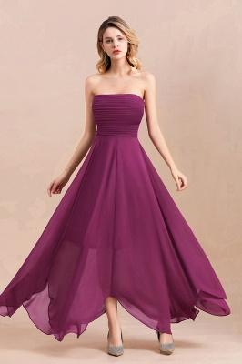 Purpur Brautjungfernkleider Günstig   Chiffon Kleider für Brautjungfern_1
