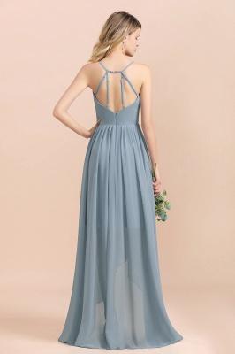 Brautjungfernkleider Lang Blau | Chiffon Kleider Hochzeitsgäste Kleider_3