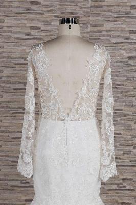 Elegant mermaid wedding dresses | Wedding dress with sleeves_7