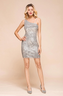 Silver Cocktail Dresses Short | Prom dresses with glitter_1