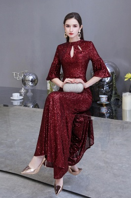 Red evening dresses | Long prom dresses with glitter_6
