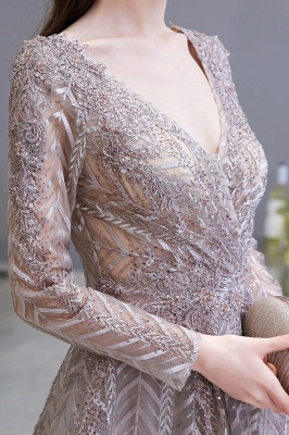 Luxury evening dresses long glitter | Prom dresses with sleeves_9