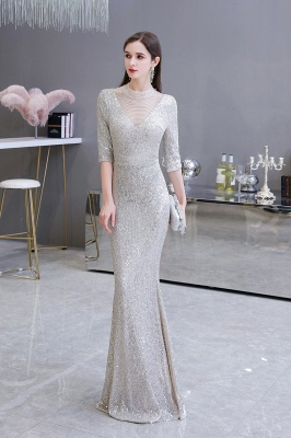 Long glitter prom dresses | Evening dresses with sleeves_5