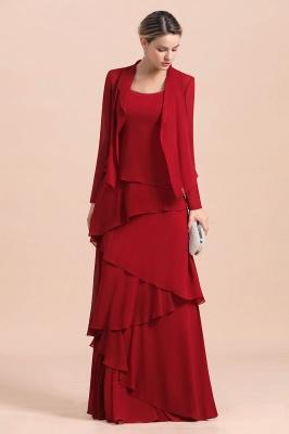 Rote Brautmutterkleider Lang Günstig | Brautmutterkleid mit Bolero_5