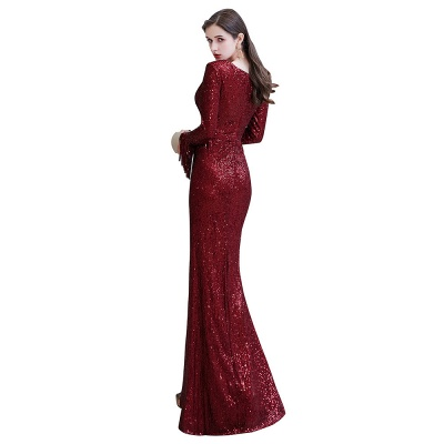 Evening dress red | Long glitter prom dresses with sleeves_27