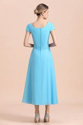 Günstige Brautmutterkleider Kurz Blau   Chiffon Kleider Günstig_3