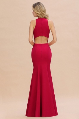 Simple evening wear | Evening dress long red_11