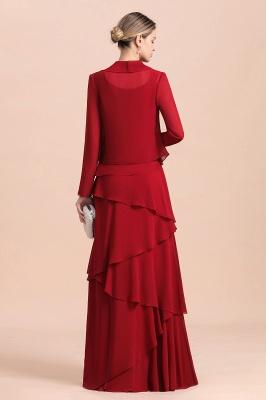 Rote Brautmutterkleider Lang Günstig | Brautmutterkleid mit Bolero_3