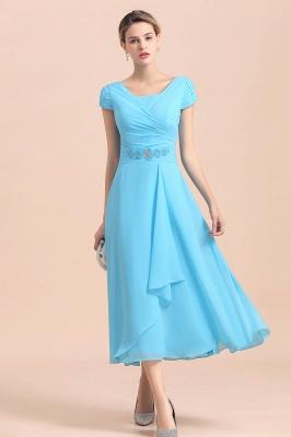 Günstige Brautmutterkleider Kurz Blau | Chiffon Kleider Günstig