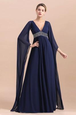 Elegante Brautmutterkleider Dunkel Blau | Hochzeitspartykleider Brautmutter_5